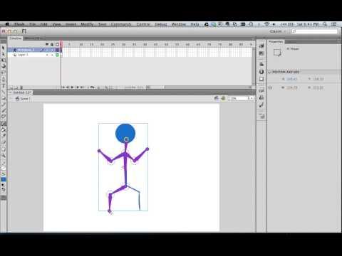 How To Animate A Stick Figure Using Adobe Flash CS6 And Bone Tool