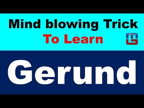 TRICKS TO LEARN GERUND IN HINDI  | VERB | ENGLISH | ALL COMPETITIVE EXAMS