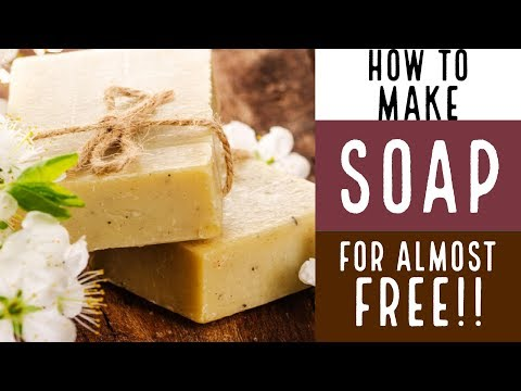 How to Make Soap for Almost FREE!!! With Recipe!!!
