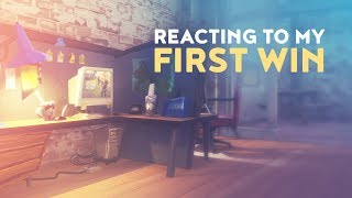 REACTING TO MY FIRST WIN ON STREAM! (Fortnite Battle Royale)