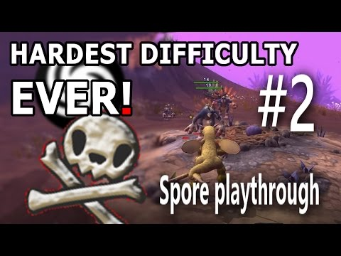 THE MOST UNFORGIVING DIFFICULTY EVER! - Spore Playthrough Part 2 [FUNNY GAMING MOMENTS]