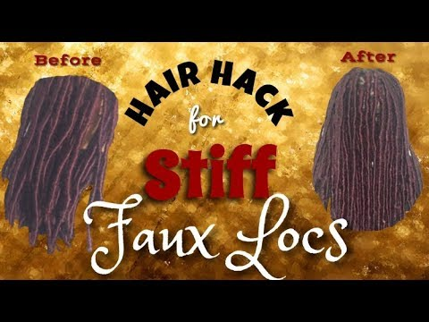 How To Get Rid of Faux Loc Stiffness | LA's Hair Hack