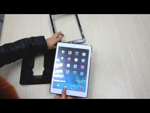 Hybrid Armor Rubber Stand Cover Shockproof  Case for Apple iPad Air: Installation Guide