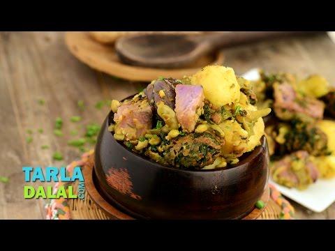 Oondhiya, Undhiyu, Gujarati Undhiyu by Tarla Dalal
