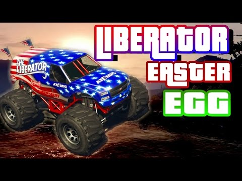 HOW TO GET THE LIBERATOR MONSTER TRUCK!! IN GTA5 Spawn location (Secret and Rare Cars) Easter eggs