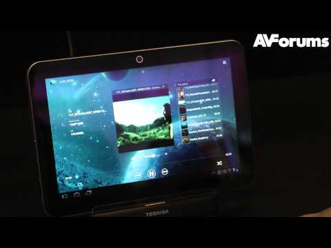 CES 2012 - Toshiba Smart Media Guide, Tablet and DLNA interface technology