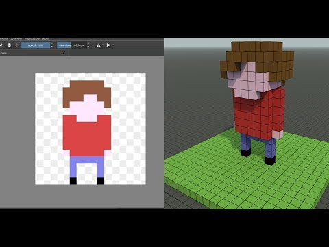 2D to 3D - Character from Pixel Art to Voxel Art