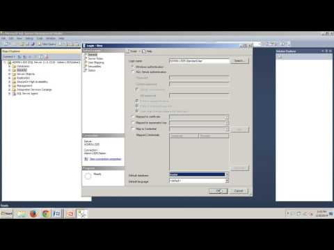 SQL Server 2012 tutorial 93: How to create a Windows based login using SSMS
