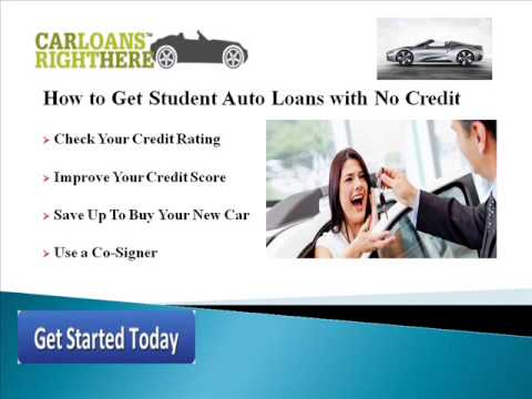 Car Loans for College Students with No Credit