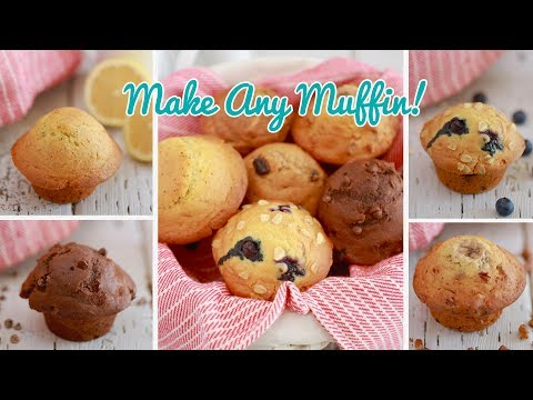 Crazy Muffins: One Muffin Recipe with Endless Flavor Variations!