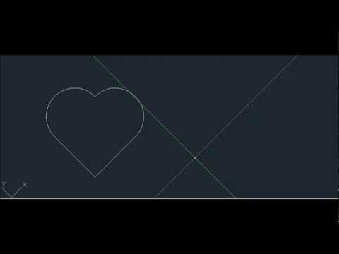 How to draw a simple perfect Love Heart symbol