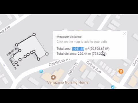 Calculate area of any building with Google maps