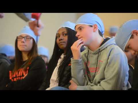 Students learn about robotics in the medical field