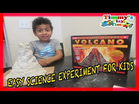 Vinegar Volcano Eruption for Kids Easy Homemade Science Fair project
