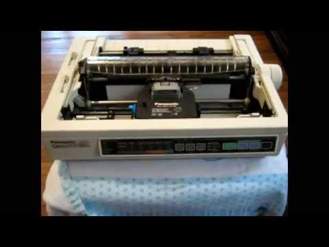 trying to  get dot matrix printer to work on win 7