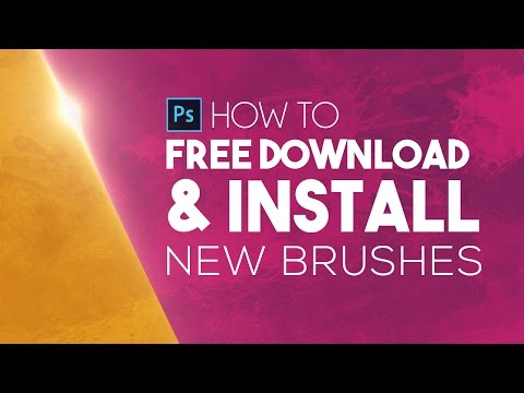 Photoshop CS6 : How to Free Download & Install New Brushes (All Versions CC, CS, CS4)