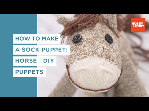 Sock Puppet: Horse