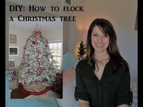 DIY  How to flock a Christmas tree