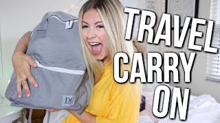 What's In My Travel Carry On + I DESIGNED A BACKPACK!
