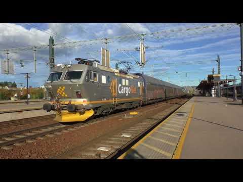 (HD) Trains at Lillestrøm, Norway - 6/10/17.