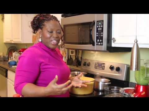 How to make East-West Nigerian Okra Soup & Eba (Garri)