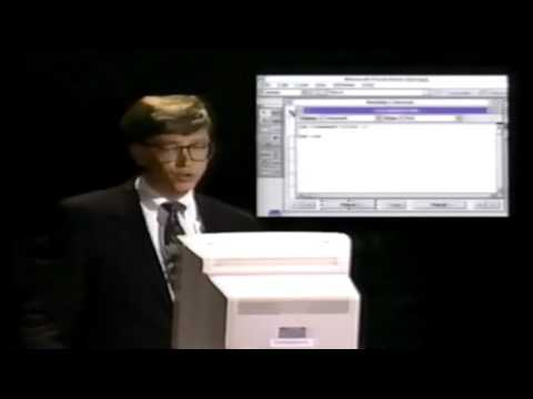 Bill Gates demonstrates Visual Basic (1991)