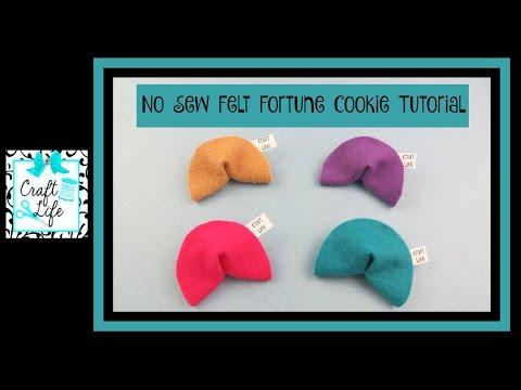 Craft Life ~ DIY No Sew Felt Fortune Cookie Tutorial