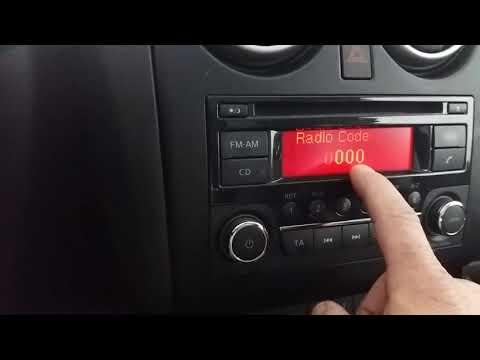 Como introduzir codigo de rádio Nissan Qasqhais