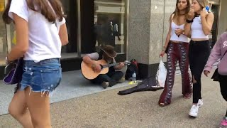 "Homeless Guy Surprises People & Stuns You! ""Song 2"" - AWESOME VOICE!"