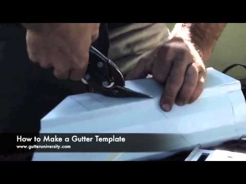 How to Make a Gutter Template