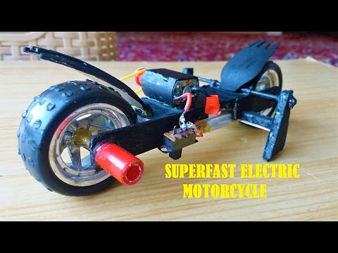 How To Make a Mini Electric Motorcycle/SuperFast Racing motor bike