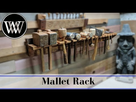 Making a Mallet Rack for the French Cleat Wall - Hand Tool Woodworking Project