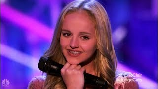 Evie Clair: Sings For Her Dad with Cancer Leaves NO DRY EYE!! America