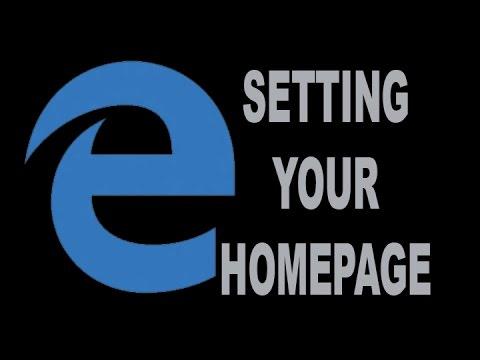 Microsoft Edge Set Homepage