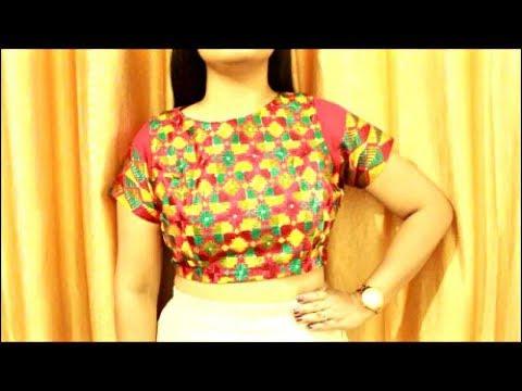 Crop Top For Lehenga Or Long Skirts   Sari Blouse With Zipper