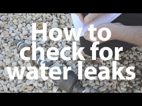 How to check for water leaks