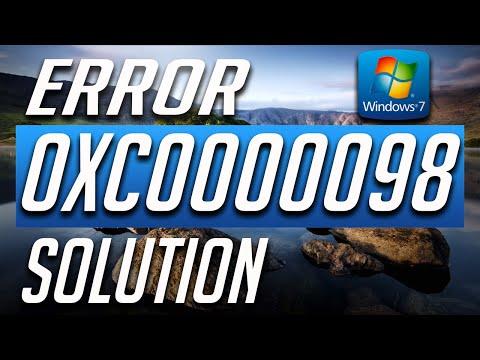 How to Fix Error Code 0xc0000098 in Windows 7 - BEST FIX! 2019