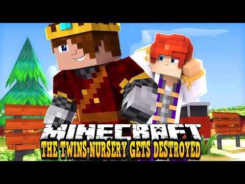 THE TWINS NURSERY GETS DESTROYED BY LEOS JEALOUS BROTHER!!  Minecraft Custom Roleplay