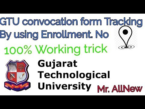 Convocation Form And Certificate Tracker For GTU Students By Mr. AllNew (Anuj Pal)