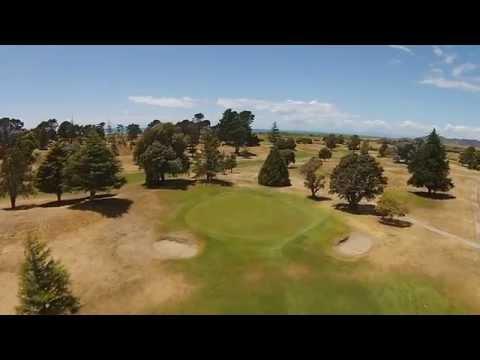 WHAKATANE GOLF COURE -  Hole 5 - Flyover & PRO TIP