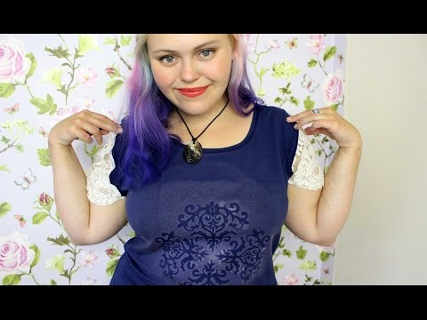 T-Shirt DIY - Lace sleeves and reverse dye (bleach) design