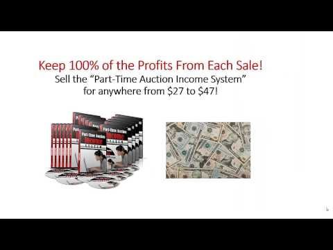 Part time auction income system Course for Ebay