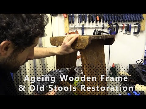 Restoring Wooded Frame and Stools