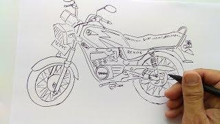 Cara Menggambar Motor Rx King
