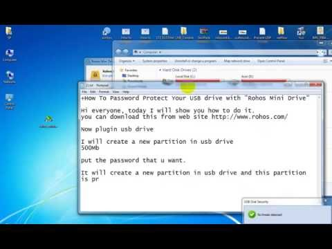 How to use Password Protect Your USB drive with Rohos Mini Drive #01