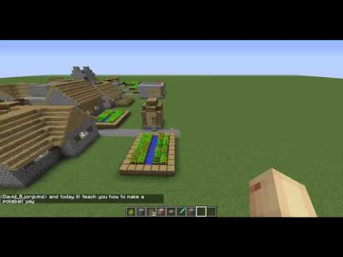 minecraft how to make a pokeball whit david