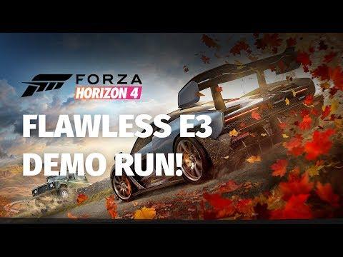 FLAWLESS Forza Horizon 4 E3 2018 Demo Run! | 4K Direct Capture
