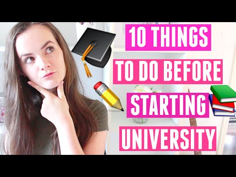 UNIVERSITY CHECKLIST: 10 Things To Do Before Starting University/College!