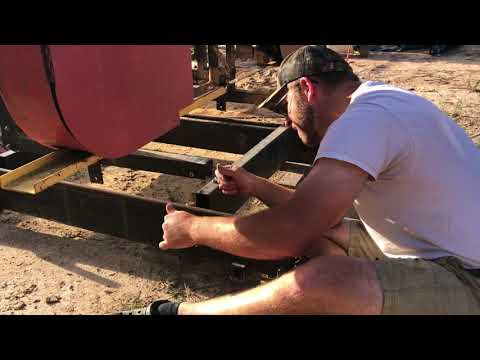Installing New Track Roller on Sawmill