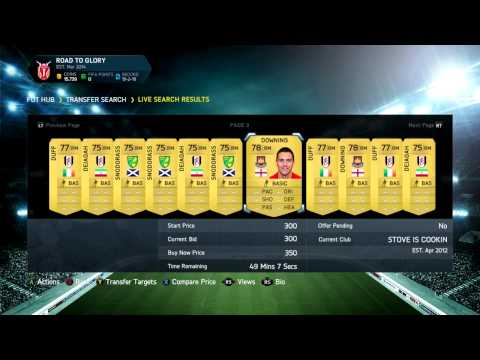 FIFA 14 Ultimate Team   Making Coins: Discard/Quick Sell Team Method #1   Buying The Team!